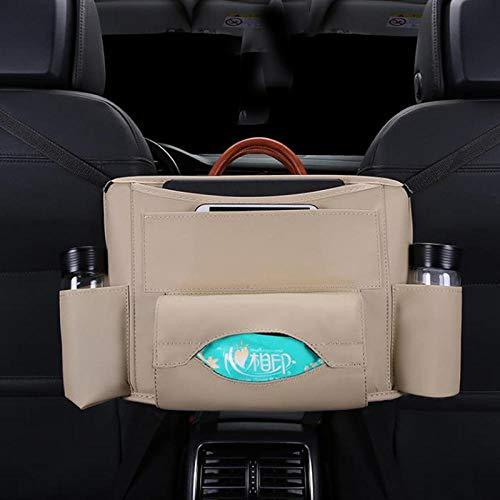 Auto Aufbewahrungstasche Autositz Rückenlehne Mitteltasche Auto Lagerung und Hängetasche Autokoffer Finishing-Beige 02