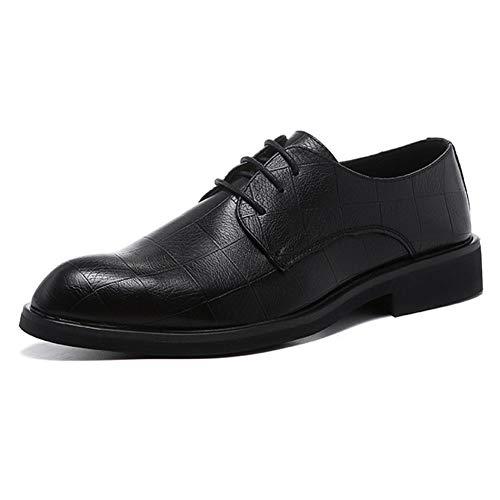 Oxfords halfhoge herenschoenen voor jurk/schoenenkitten, bovenaan microvezel/leer met blokhak, stiksel, laag topplaid, reliëf, solide kleur, duurzame Oxford-schoenen