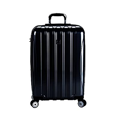 Delsey Luggage Helium Aero 25  Expandable Spinner Trolley (Black)