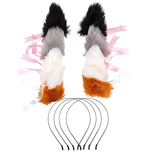 FRCOLOR 4 Pares de Diademas para Orejas de Gato Diadema para Orejas de Gato Diadema para Fiesta Cosplay Accesorios para El Cabello para Nias Y Mujeres Accesorios de Uso Diario Favor de