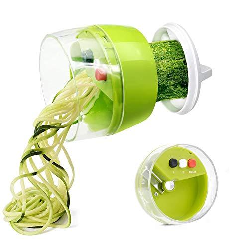 XUUX Upgrade 4 in 1 Spiralizer Gemüseschneider, Handheld Gemüse Spiralschneider – Zoodles Spaghetti Veggie Nudeln Maker, für Obst, Karotten, Zucchini, Gurken, Kartoffeln, Rettich, Kürbis