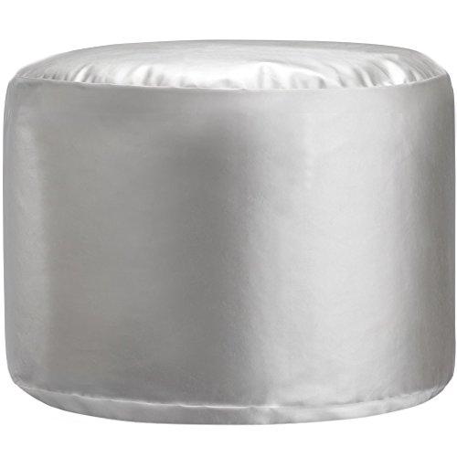 Little Seeds Metallic Pouf, Silver