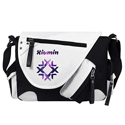 EXO Freizeitrucksack Freizeit Crossbody Beutel Exquisite Color Printing Schultertasche Leichtgewicht Messenger Bags Unisex (Color : White17, Size : 34 X 26 X 10cm)
