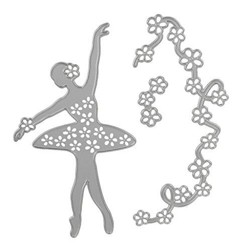 DIY Ausstechformen, hohl, tanzendes Design, aus Karbonstahl, zum Schneiden von Papier, Schablone, Scrapingbook-Dekoration