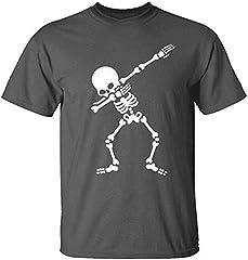 Camiseta de Manga Corta para Hombre Moda Estampado Calaveras Cuello Redondo Algodón Cómodo Transpirables Personalizadas Simplicidad y Moda T-Shirt de Verano MMUJERY