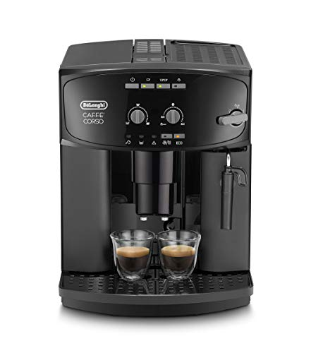 Delonghi super-automatic espresso coffee machine with an adjustable grinder, milk frother, maker for brewing espresso, cappuccino. ESAM2600 Caffe Corso