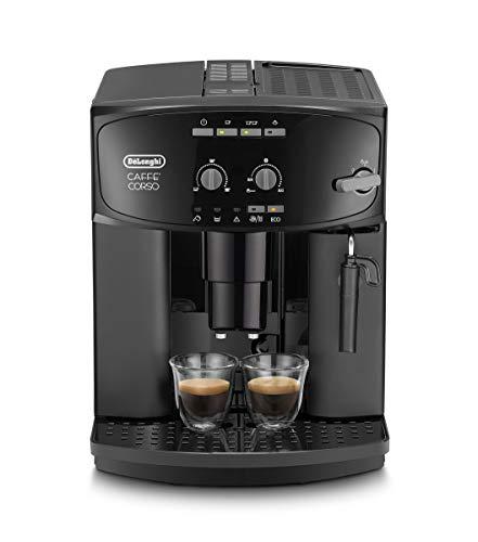 De'Longhi Caffé Corso ESAM 2600 Kaffeevollautomat mit Milchaufschäumdüse für Cappuccino, mit Espresso Direktwahltaste und Drehregler, 2-Tassen-Funktion, großer 1,8 Liter Wassertank, schwarz