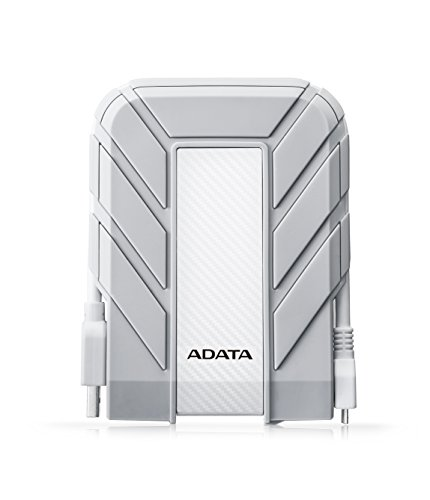 ADATA  HD710A 1TB USB3.0 Durable External Hard Drive, IP68, For Apple Mac, White (AHD710A-1TU3-CWH)