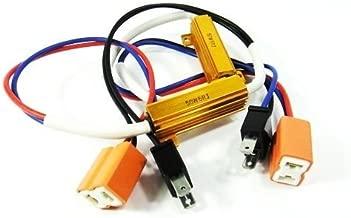 LEDIN H7 LED Light Xenon HL High Beam Headlight No Error Resistor Wiring Harness Socket
