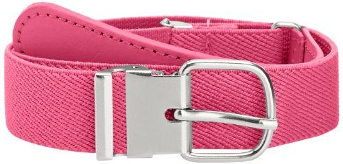 Playshoes Unisex - Kinder Gürtel 601300 Elastischer Kinder Gürtel mit echtem Leder, Gr. 65, Pink (pink)