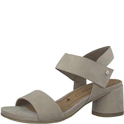 Tamaris Damen Sandaletten 1-1-28010-32, Frauen Sommerschuh,Riemen,elegant,feminin,Leichter Absatz,Touch-IT,Pepper,40 EU