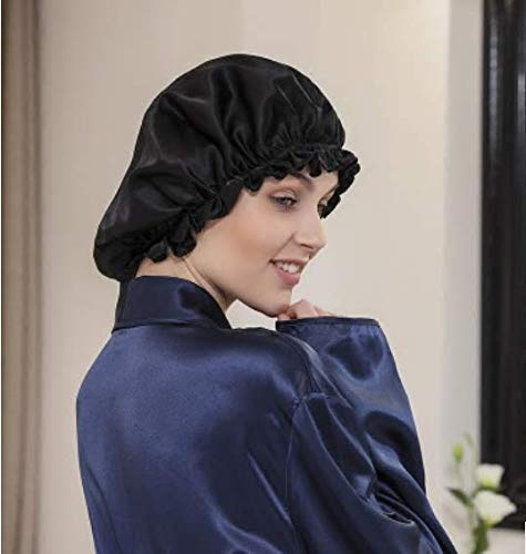 Price comparison product image Silk Night Cap by One Planet - Head Cover Bonnet for Beautiful Hair - Wake Up Perfect Daily!