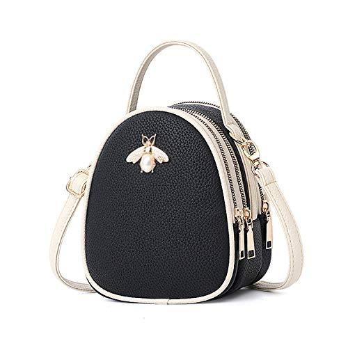 Leather Luxury Bags Designer Famous Brands Sac A Main Tote Shoulder Bag Ladies Hand,Black 1