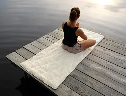 Wohnen & Accessoires GmbH & Co. KG gepolsterte Yogamatte, ÖKO Yoga Matte und Gymnastikmatte aus kbT Schurwolle und KBA Baumwolle rutschfest