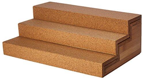 Lipper International 8808 Bamboo Wood and Cork Expandable 3-Tier Step Shelf Kitchen Organizer, 12' x 7-7/8' x 4-1/4'