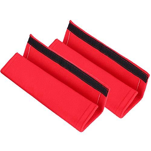 Vobor riem cover set 1 paar stoel veiligheid riem cover schouder harnas kussen pad default Rood