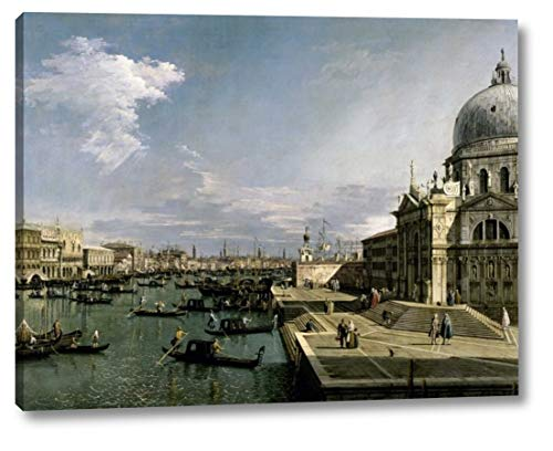 """Venice, Church of The Blessed Sacrament by Canaletto - 24"""" x 30"""" Canvas Art Print Gallery Wrapped - Ready to Hang"""