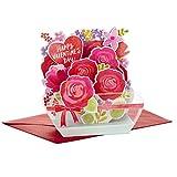 Hallmark Paper Wonder Displayable Pop Up Valentines Day Card (Flowers Valentine)