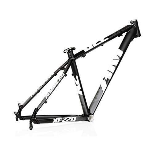 AM / XF220 Mountainbike-Rahmen, 26/27,5 Zoll Leichter Aluminium-Legierung Fahrrad-Rahmen, for DIY Montag von Mountainbike-Zubehör (schwarz/weiß) (Size : 26