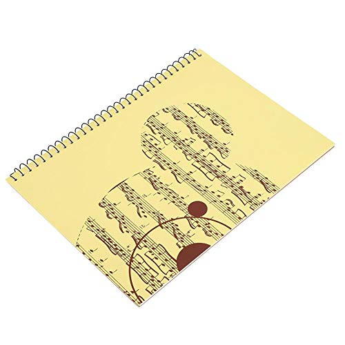 Stave Notebook, 50 páginas, Personal de notación Musical, Cuaderno de música, manuscrito, Papel de Escribir(Oso Amarillo)