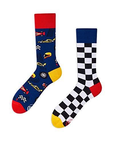 Many Mornings - Formula Racing - Rennfahrer - mismatched ungleiche Socken (43-46)