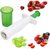 Grape Cutter, Tomato Cutter Fruit Vegetable Slicer, Multifunctional Creative Cut Tools for Salad Gadgets and Baby Auxiliary Food, Plastic Shell Stainless Steel Blade Instant Cut for Beef Party Kitchen