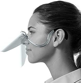 フェイスシールド 食べれる君 飛沫防止 ガード メガネ マスク 高透明度 ワンタッチ開閉 超軽量 呼吸しやすい