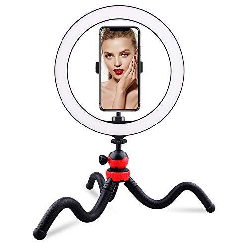 FGAITH Fotografie licht vullen bureau ring eenvoudige LED timer auto houder voor mobiele telefoon make-up verlichting spiegel koplamp fotografie licht