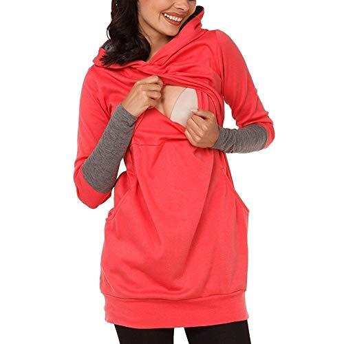 Flairstar Umstandsmode Damen Winter Herbst Hoodies Stillpullover Langarm Pullover Schwanger Sweatshirt Stillen Umstandshirt