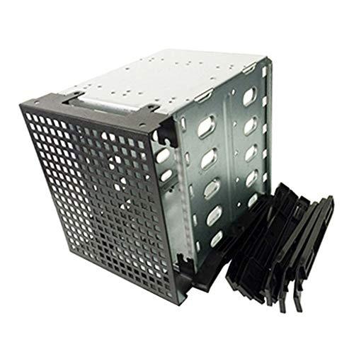 perfk Festplattenkäfig-Rack, 5 x 3,5 Zoll SATA HDD Cage Rack Hard Driver Tray