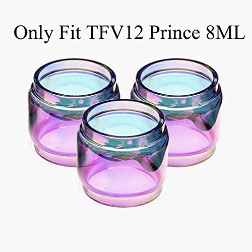 CENGLORY Glass Tube Anti Slip Rings Glass Attached Drip Tip Cover for TFV12 Prince Bulb Glass Protection Skin (Rainbow,3PCS)
