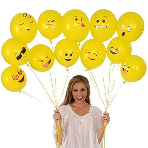 WZRQQ 20 Stks/partij Emoji Ballonnen 12 Inch Geel Smiley Gezicht Expressie Latex Ballon Bruiloft Verjaardag Party Decor Cartoon Inflate Ballon