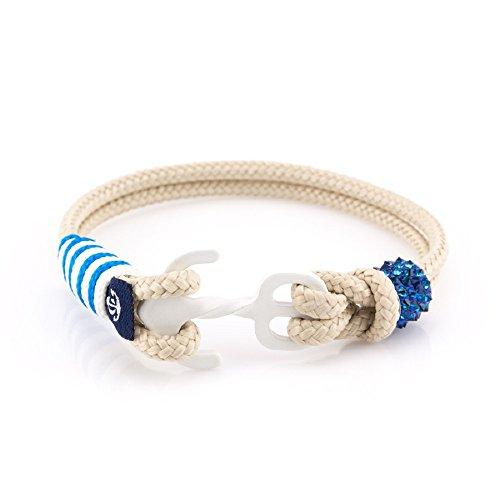 Constantin Nautics Damen-Armband Kunststoff/Edelstahl 19 Beige 32005308