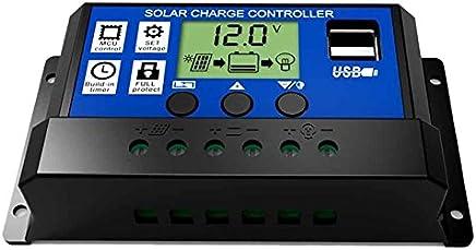 SODIAL 30A 12V / 24V LCD Intelligenza Auto Regolare PWM batteria regolatore di carica solare