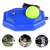 Emwel Tennis Trainer Rebound Ball Tennis Trainer Equipment Trainer Base Self-Study Practice Training Tool Training for Kids Player Beginner