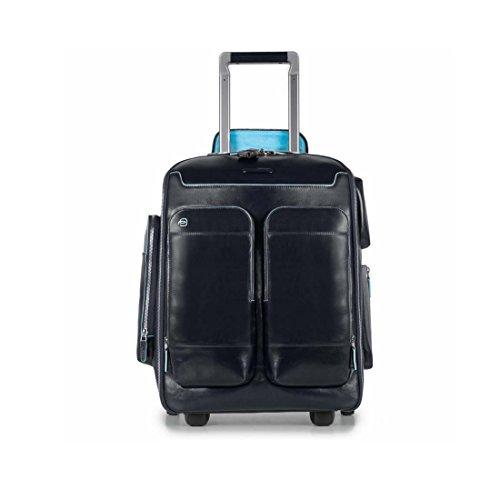 Piquadro Blue Square Zaino Portabilità a Trolley, Pelle, Blu, 48 cm