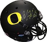 Marcus Mariota signed Oregon Ducks Black Matte Schutt Full Size Replica Helmet #8 (Heisman)- Mariota Hologram