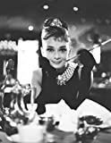 Juego de pintura de diamante 5D Audrey Hepburn – B&W regalo de 12 x 16 pulgadas (30 x 40 cm) bordado de mosaico para decoración del hogar regalos hechos a mano