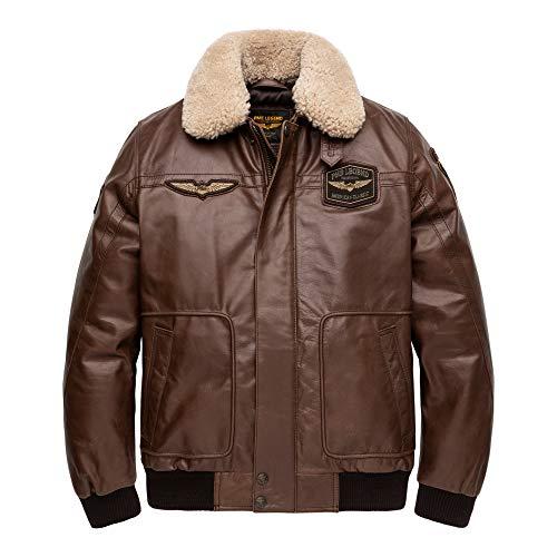 PME Legend Bomber Jacket Buff Hudson - Fliegerjacke, Größe_Bekleidung:XL, Farbe:d.Brown