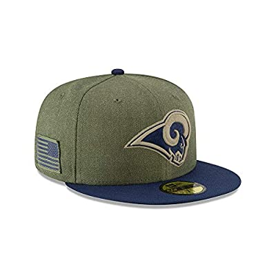 New Era 59Fifty Hat Los Angeles Rams On-Field Salute to Service Green Fitted Cap