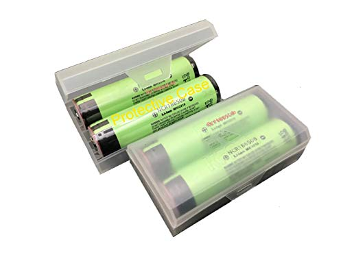 Plastic Protective 18650 Battery Storage/Container/Holder/Case (4 NCRB3400 Inlcuded)