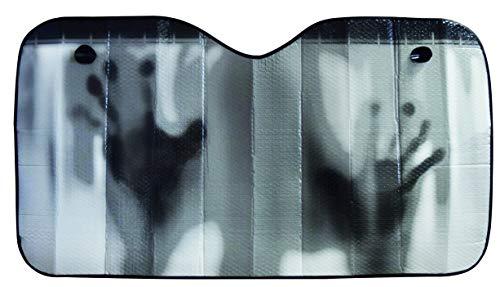 """OK Cars AZ-SAA-046 Auto Sonnenschutz Frontscheibe, Sonnenblende für die Windschutzscheibe, Frontscheibenabdeckung mit Motiv\""""Hände\"""", Maße: 130x70cm"""