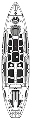 8070177 Wilderness Systems Silent Traction Pad Kit - Radar 115, Black by Confluence Accessories