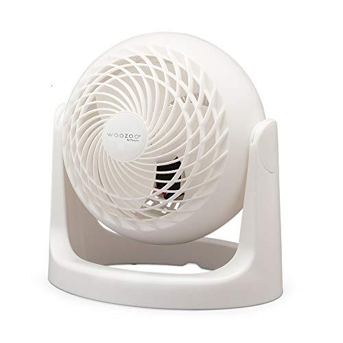 Iris Ohyama - Ventilatore da tavolo potente e silenzioso angolo regolabile a 360° - Woozoo PCF-HE15 - Bianco, 13 M2, 18.2 x 25.2 x 25.6 cm, Piccolo