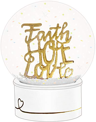 "Glitzerkugel ""Faith - Hope - Love"""