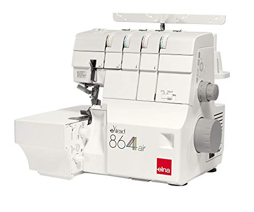Elna Overlock 864air - mit Lufteinfädelsystem Benutzerfreundlich mit Einer Besonderen Funktion