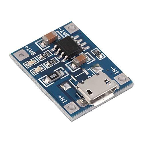 Easyeeasy TP4056 1A Lipo Placa de carga de batería Módulo cargador batería de litio DIY MICRO Puerto Mike Voltaje de entrada USB 4.5V - 5.5V