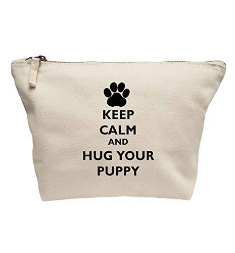 Flox Creative Trousse de maquillage Keep Calm Hug Your Puppy