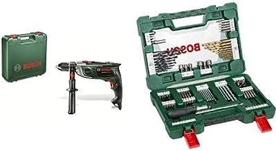 Bosch 0603174000 Taladro percutor + Bosch V-Line Titanio - Maletín de 91 unidades