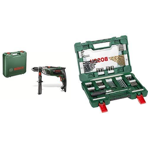 Bosch Schlagbohrmaschine AdvancedImpact 900 (Zusatzhandgriff, Tiefenanschlag, Koffer, 900 Watt) + Bosch 91tlg. Bohrer- und Bit Set V-Line Box (Holz, Stein und Metall, Zubehör für Bohr- und Schraubwerkzeuge)